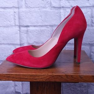 Jessica Simpson Vivienne Red Suede Pumps